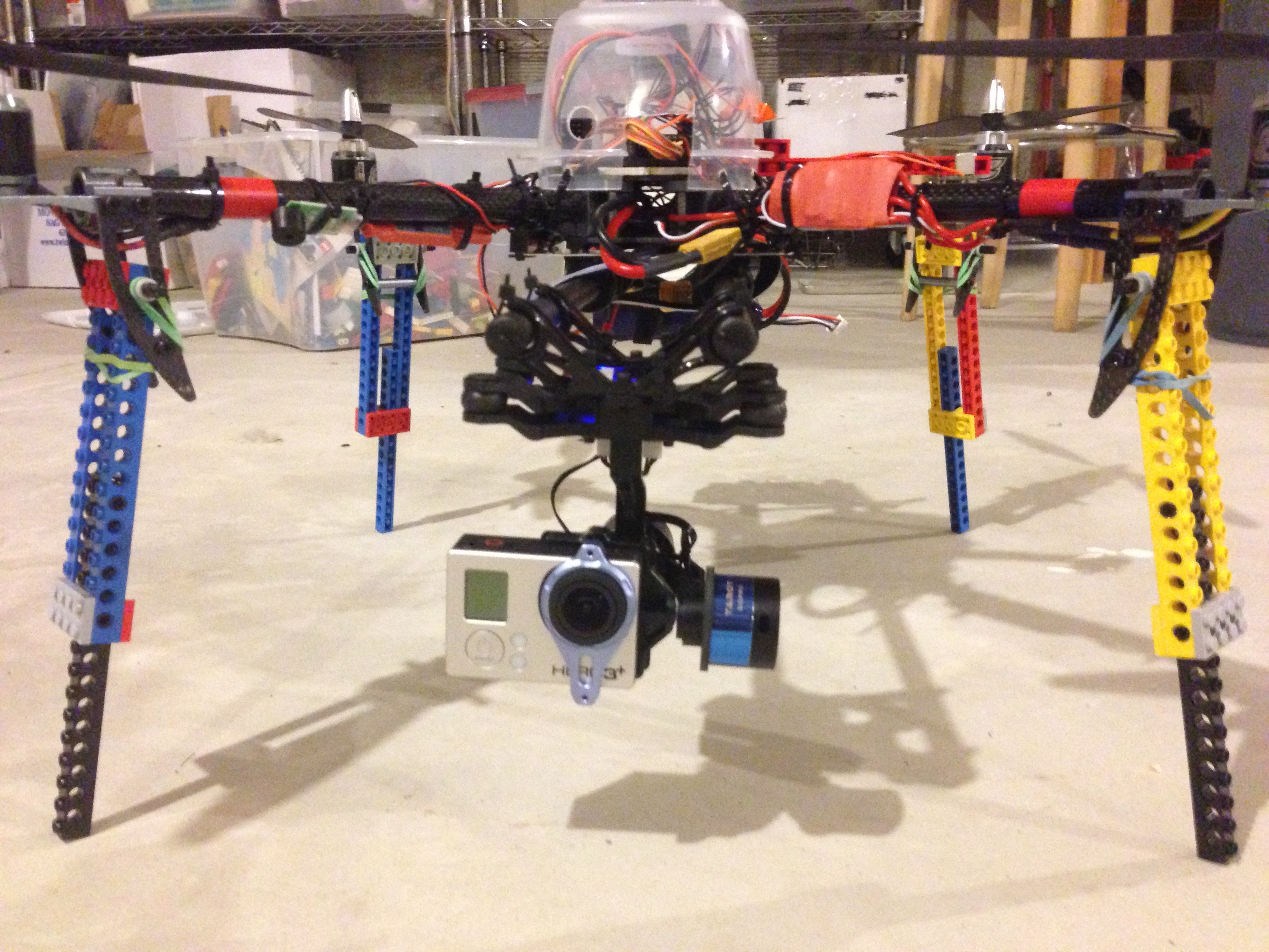 Quadcopter with Lego legs